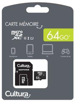 Carte Micro Sdxc Cultura 64Go