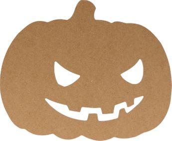 Silhouette mdf halloween citrouille 25cm