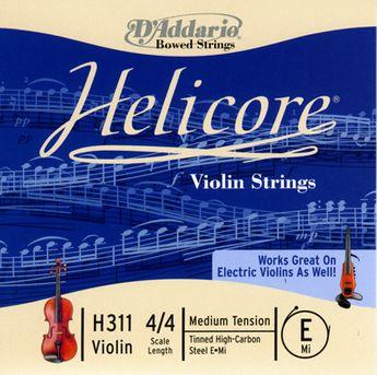 D'Addario - Corde de violon Helicore Mi Medium 4/4