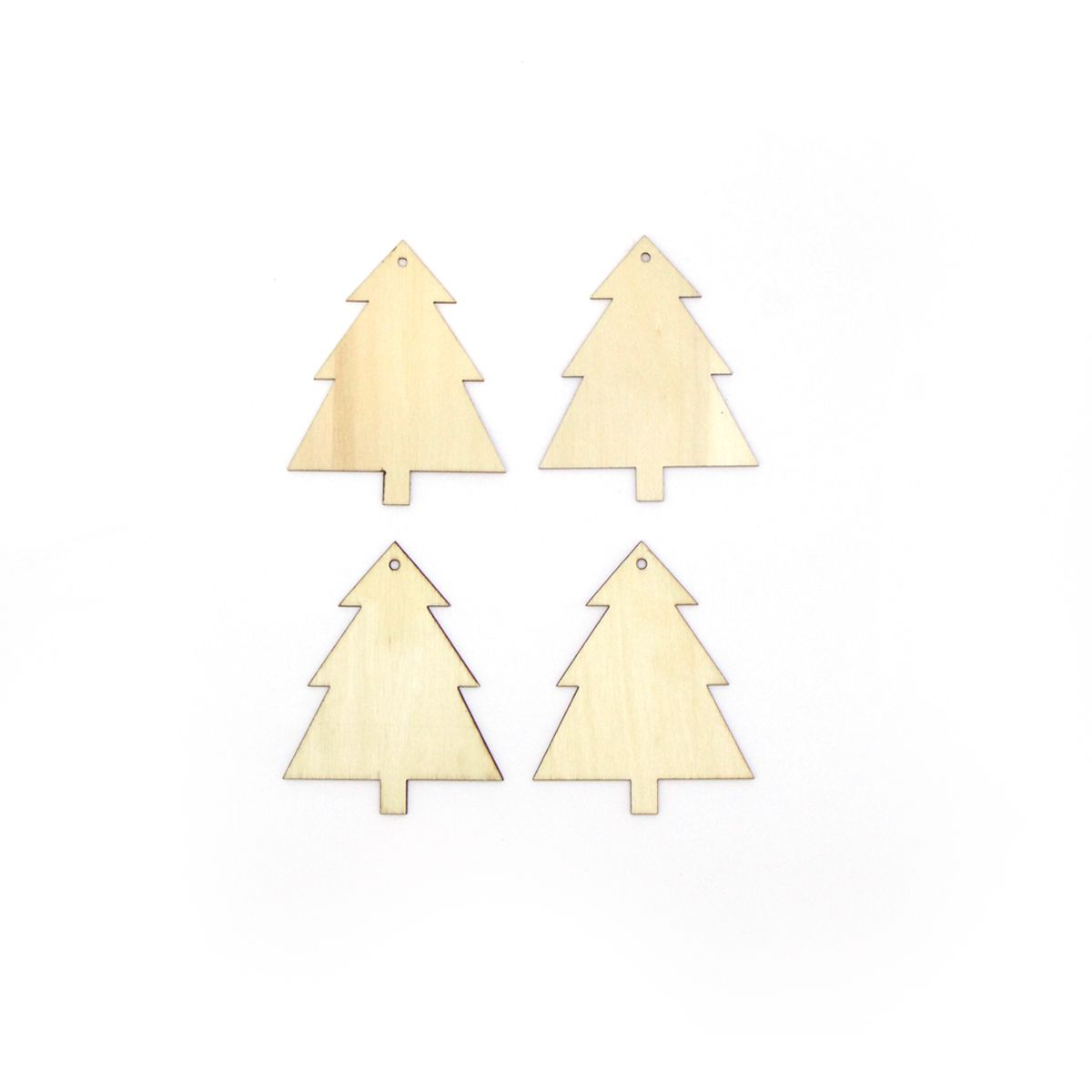SET DE 4 FORMES SAPIN PLYWOOD