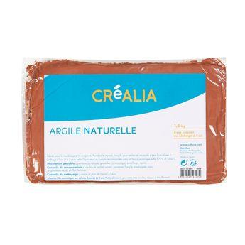 Argile naturelle - Terracotta - 1,5 kg - Créalia