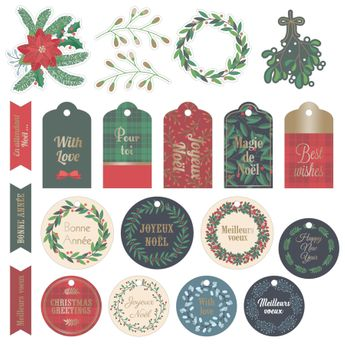 Die cut paper Merry Christmas
