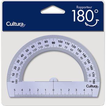 Rapporteur plastique 180° - Cultura