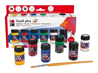 Kit de peinture pour tissu - Textil plus -  Mat - 6 x 15 ml - Marabu
