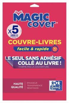 5 feuilles c-livres oxford magic cover pvc90lis i