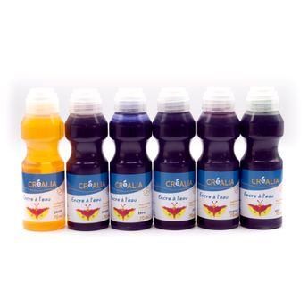 6 flacons d'encre à l'eau - Créalia - 6x70ml