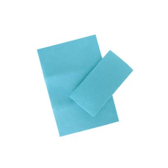 Set 2 feuilles feutrines bleues - Créalia