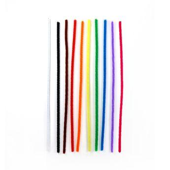 Set 100 fils chenille multicolores - Créalia
