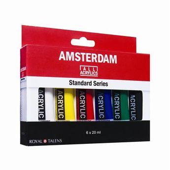 Amsterdam couleurs acrylique set 6 x 20ml