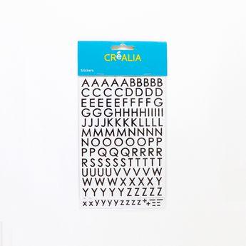 Alphabet Glitter majuscule - Noir - Créalia