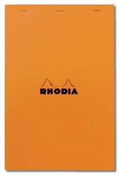 Bloc agrafé Rhodia ORANGE N°13 10,5x14,8cm 80F Q.5x5 80g