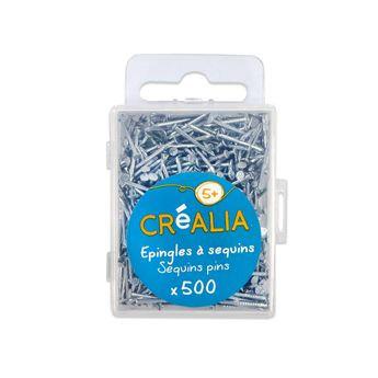 500 épingles en métal pour sequins  Créalia