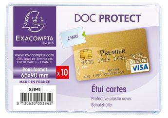 Etuis de protection pour carte bancaire PVC lisse 20/100e