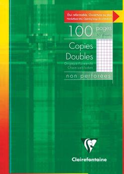 Copies doubles non perforées s/étui 21x29,7cm 100p Q.5x5