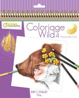 Carnet de coloriage Wild 4