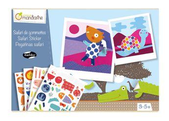 Boîte créative AM-Maildor Safari de gommettes