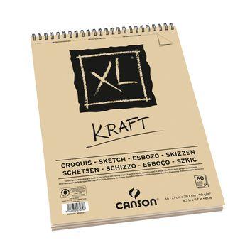 Album XL Kraft A4 - 60 feuilles
