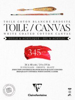 BLOC TOILE COTON 10F 36X48CM