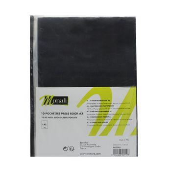 10 pochettes pour press book format A3 - Monali
