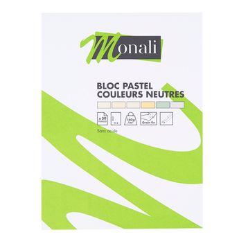 Bloc pastel - couleurs neutres - Monali