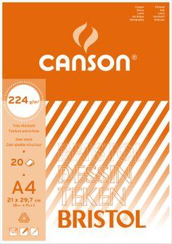BL  20 F BRISTOL CANSON®  21X29.7 224G  BLANC