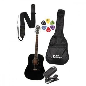 Shiver - Pack GFS-51 noire Guitare Folk